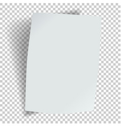sheet paper with a bend and shadow vector image