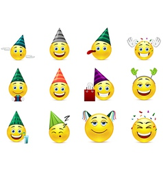 smiles at birthday party vector image