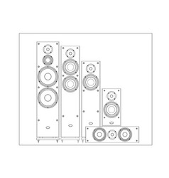 sound shop front speaker acoustic system vector image