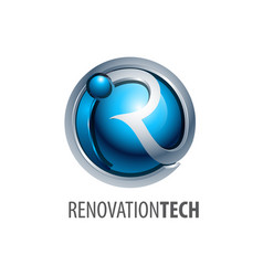 sphere renovation technology logo concept design vector image
