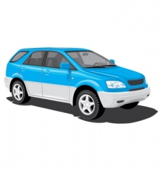 sports utility vehicle vector image vector image