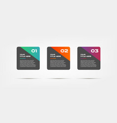 Square text infographic ui kit templates for vector
