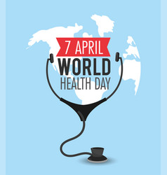Stethoscope diagnosis to world health day vector