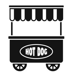street cart hot dog icon simple style vector image