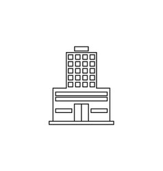 Thin line apartment icon vector
