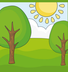 trees landscape design vector image