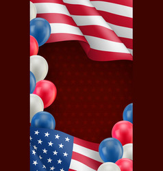 Usa country patriotic background template vector