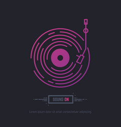 Vinyl disc record vector