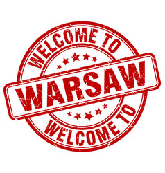 Welcome to warsaw vector