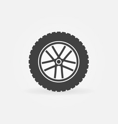 Wheel symbol or icon rim symbol vector