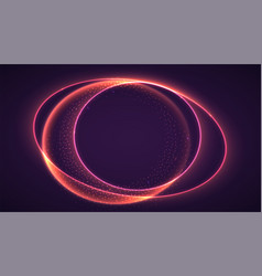 abstract ring background with luminous swirling vector image vector image