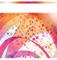 Neon lights graphic design abstract background vector image vector image