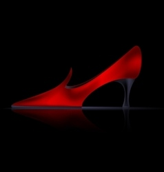 abstract red shoe vector image vector image