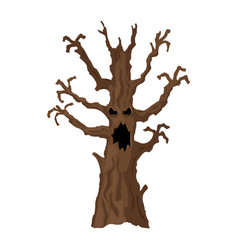 halloween tree halloween icon isolated on white vector image