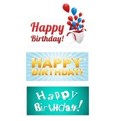 Happy birthday stickers vector image vector image