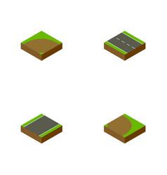 Isometric way set of rotation single-lane sand vector