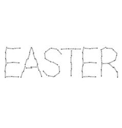 modern easter word background Eps 10 vector image