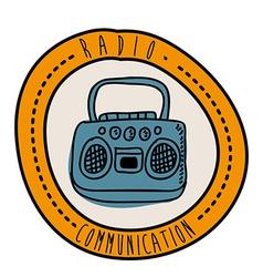 radio design vector image