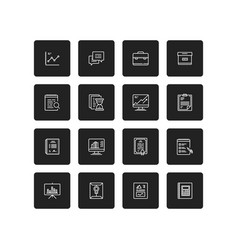 simple business and finance isolated icon set vector image
