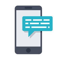 smartphone sms icon vector image vector image