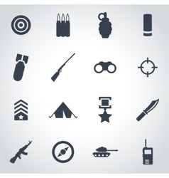 black military icon set vector image