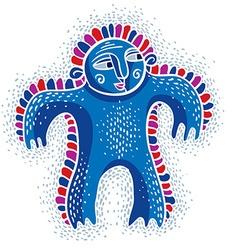 cool cartoon silly monster simple weird creature vector image