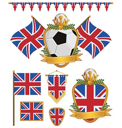 great britain flags vector image vector image