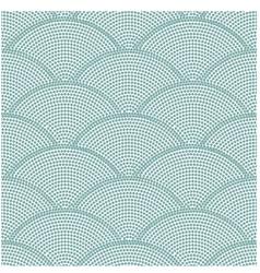 seamless ocean wave dot pattern vector image vector image