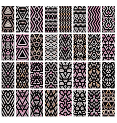 set of 32 patterns vector image