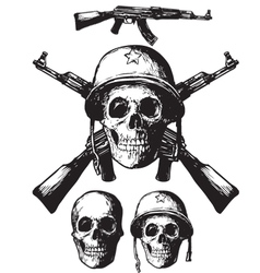Skull army vector image vector image