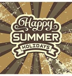 Summer Holidays Vintage Poster vector image