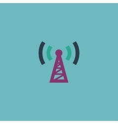 transmitter flat icon vector image