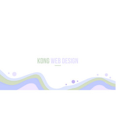 abstract header website modern design with wave vector image vector image
