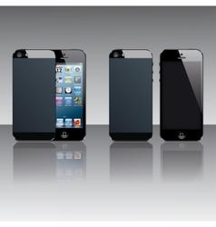Black mobile phones vector image