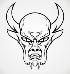 Devil Face Tattoo Design vector image vector image