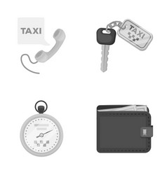 Handset with the inscription of a taxi car keys vector