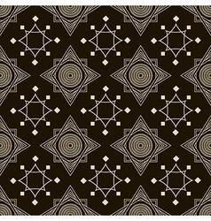 Seamless antique pattern ornament geometric stylis vector image