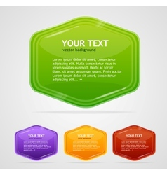 Abstract speech bubbles vector image