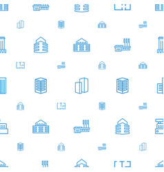 apartment icons pattern seamless white background vector image