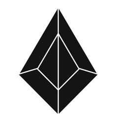 Award jewel icon simple style vector