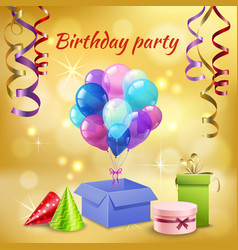 birthday party accessories realistic vector image