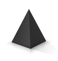 Black square pyramid vector