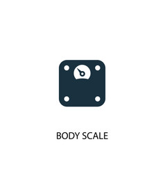 body scale icon simple element body vector image