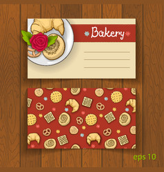 Business card for bakery business vector