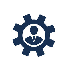 Business management icon vector