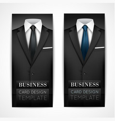 Businessman suit invitation collection vector