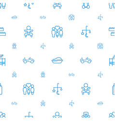 childhood icons pattern seamless white background vector image