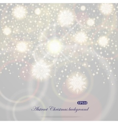 Christmas background with flying snowflakes vector