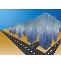 City in desert vector