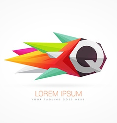 Colorful abstract logo with letter Q vector